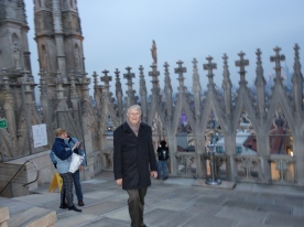 Ted on the cathedral terraces