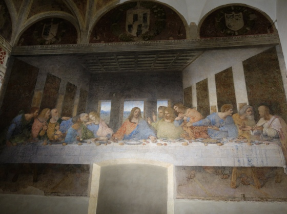 DaVinci Cenacolo: The Apostles' feet were lost beyond hope of restoration.