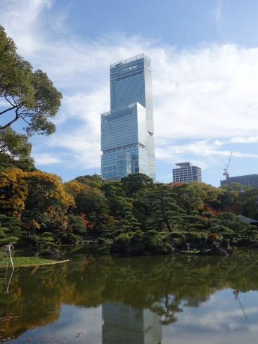Haruka Tower (our hotel) from Tennoji Park