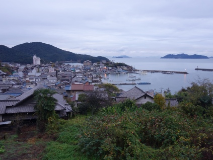 Tomonoura from hillside temple