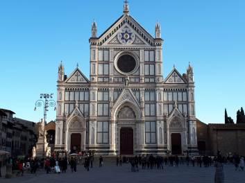 Basilica of Santa Croce - originally built in 1294 by Arnolfo di Cambio; 19th C exterior