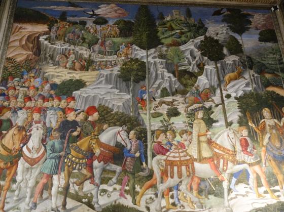 Palazzo Medici Riccardi, Procession of the Magi by Benozzo Gozzoli (1459)