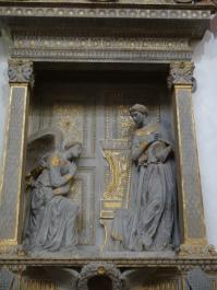 Santa Croce: Annunciation by Donatello (1435)