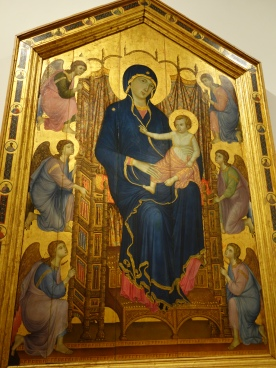 Galleria degli Uffizi: Rucellai Madonna - Duccio di Buonsegna, 1285.