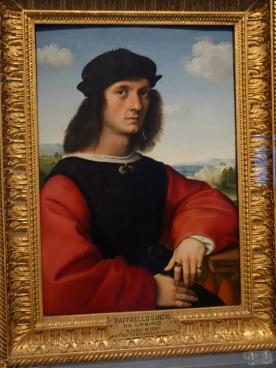 Galleria degli Uffizi: Portrait of Agnolo Doni - Raffaello Sanzio, 1506
