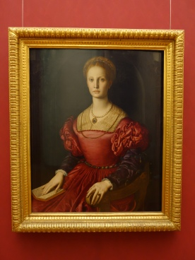 Galleria degli Uffizi: Portrait of Lucrezia Panciatichi - Bronzino, 1541