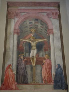 Church of Santa Maria Novella: The Holy Trinity, Masaccio (1425); a notable early use of perspective