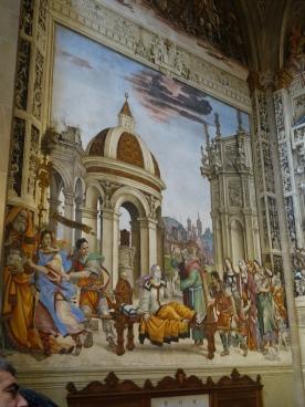 Church of Santa Maria Novella, Strozzi Chapel: Resurrection of Drusiana by St. John the Evangelist, Filippino Lippi (1487-1502)