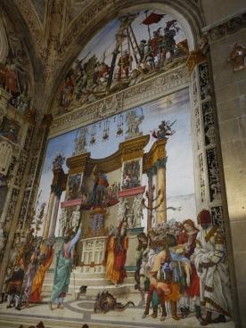 Church of Santa Maria Novella, Strozzi Chapel: St. Phillip drives the dragon out of the temple of Hierapolis, Filippino Lippi (1487-1502)