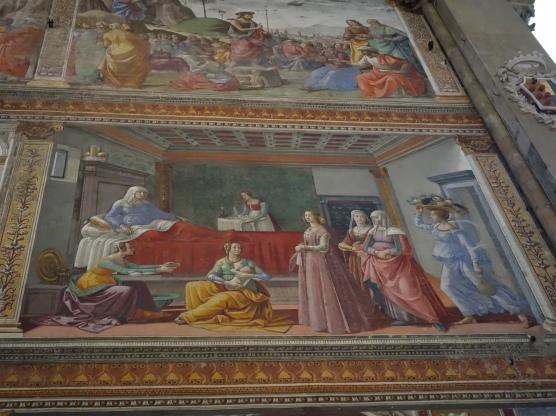 Church of Santa Maria Novella, Tornabuoni Chapel: Scenes from the life of St. John the Baptist, Domenico Ghirlandaio (1485-1490)