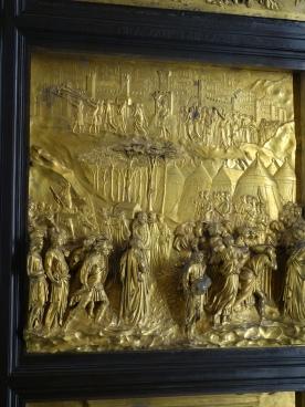 Duomo Museum, Gates of Paradise, Lorenzo Ghiberti (1425 - 1452); detail showing Joshua and the Battle of Jericho