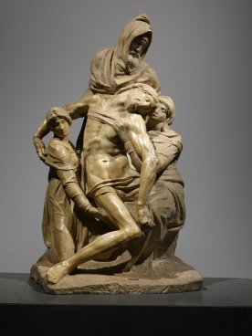 Duomo Museum: Pieta by Michelangelo (1547-55): third and last sculpture of this name; one of Michelangelo's last works, he depicted himself as Nicodemus