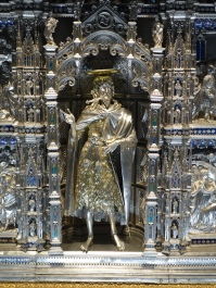 Museo del Duomo: The SIlver Altar of St. John the Baptist; worked on by many different artitst over a period of more than a century (1366-1480)