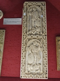Bargello: 9C ivory - from Palazzo of Charlemagne