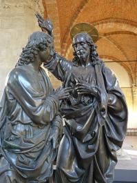 Orsanmichele: Doubting St. Thomas - Andrea del Verrocchio, 1467-83 (merchant's guild)