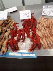 Mercado Centrale; those shrimp really are red