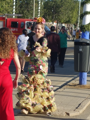 Seville Feria; one-of-a-kind dress