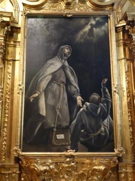 Hospital de Mujeres. Capilla del Carmen, El Greco. St Francis in Ecstasy