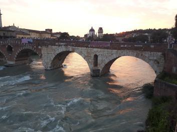 Adige, Ponte Pietra (1C AD), Sunset