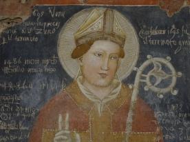 St. Zeno, ancient frescos, ancient graffiti