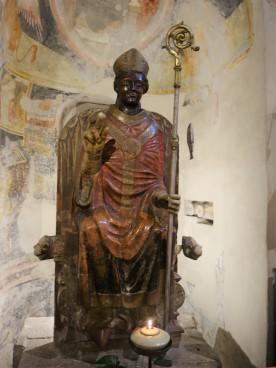St. Zeno statue, note the fish