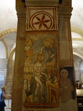 St. Fermo, lower church, 12C frescos