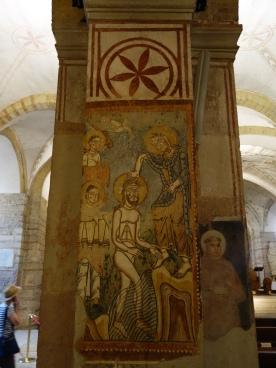 St. Fermo, lower church, 12C frescos