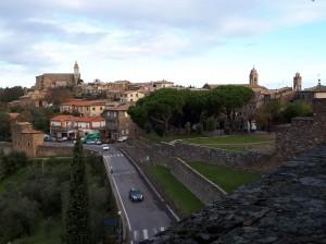 Montalcino city view