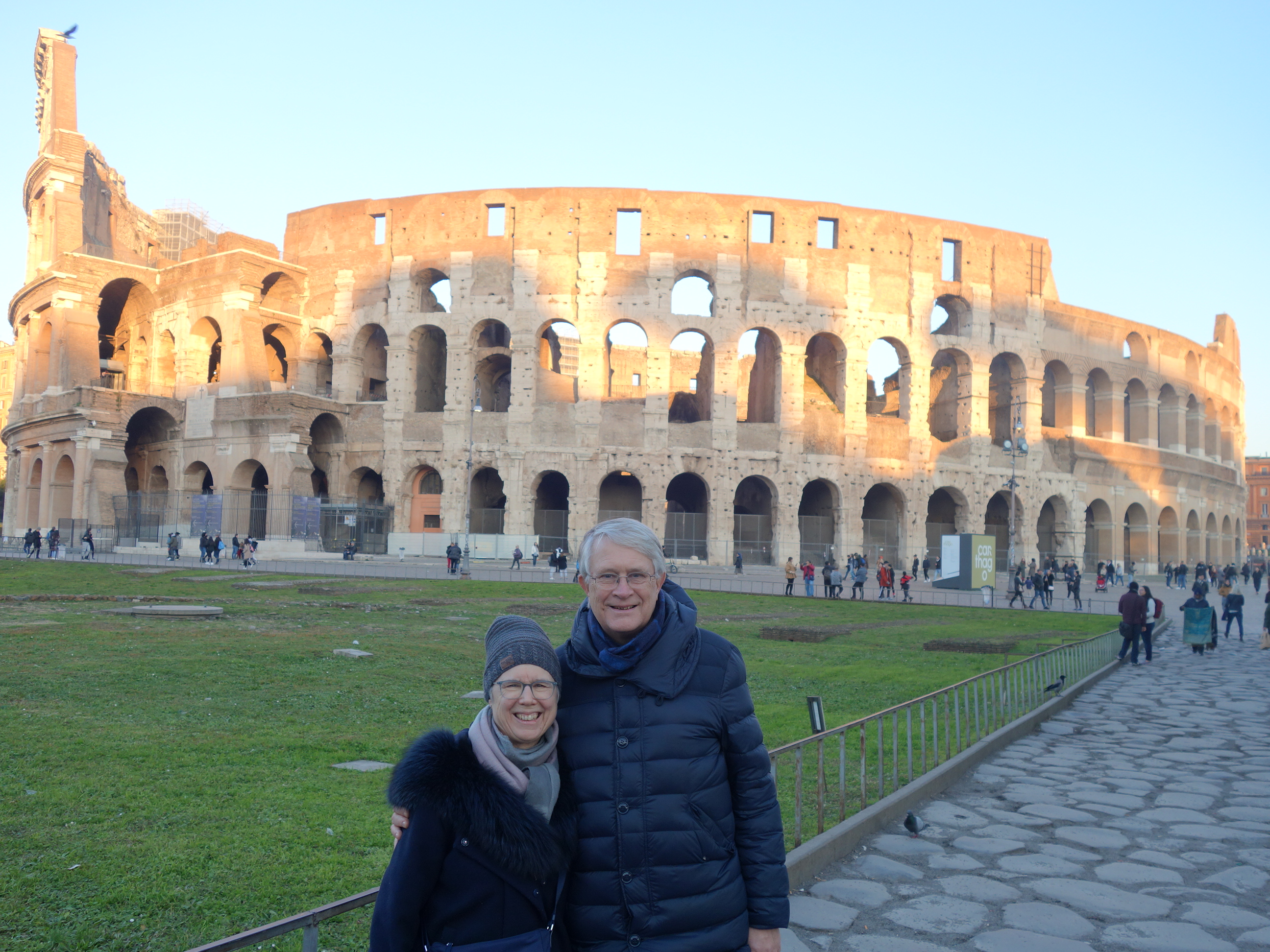 With Laura and Peter at the Colisseum