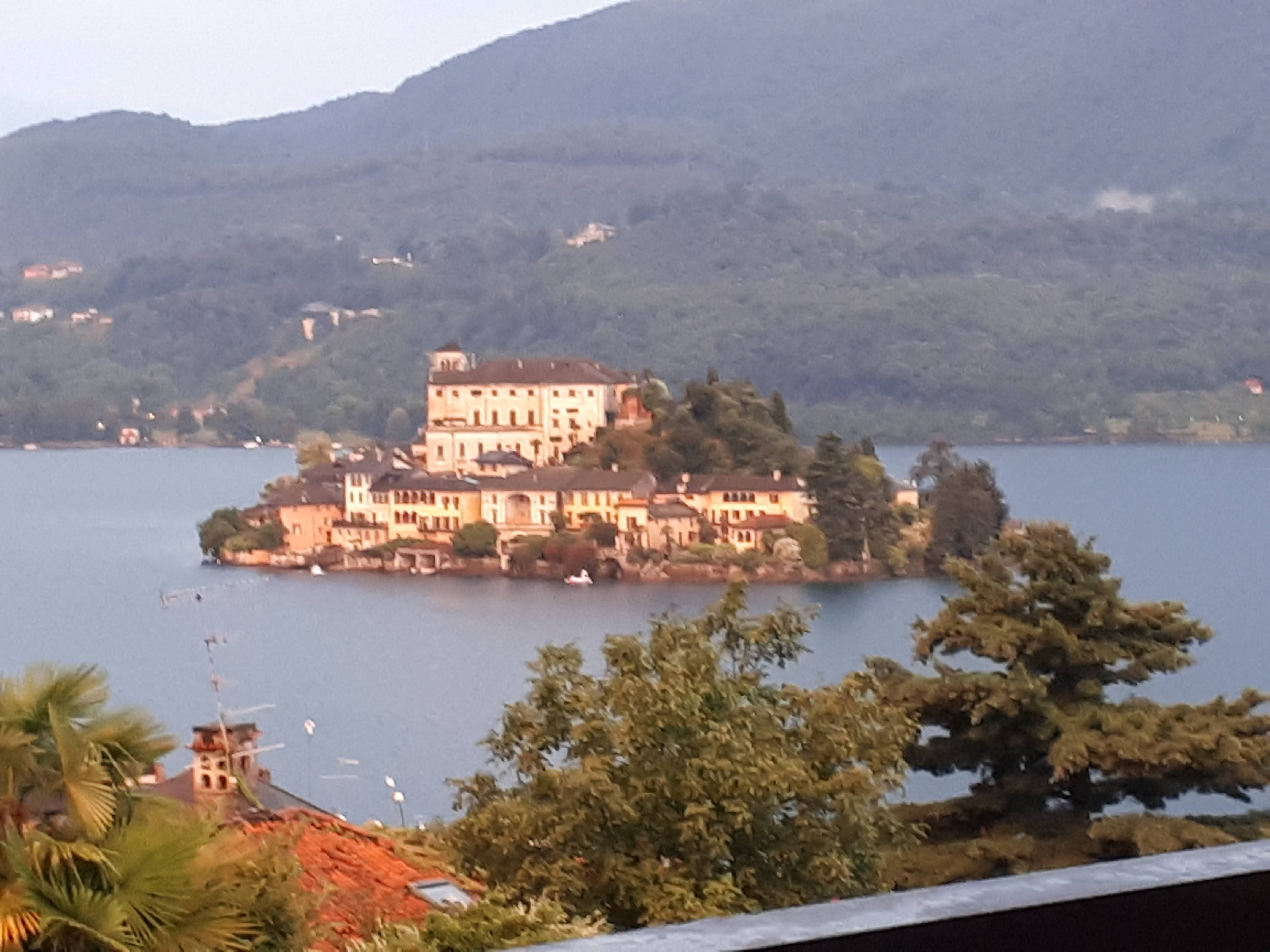 Isola San Giulio - Lago d'Orta twilight after a thunderstorm
