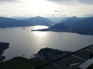 View from top of Funivia di Lago Maggiore at Laveno-Mombello